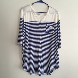 Lucky Brand striped top with pocket XXL